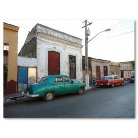Αφίσα (αυτοκίνητα, δρόμοι, δρόμος, Κούβα, πόλη, αρχιτεκτονική)